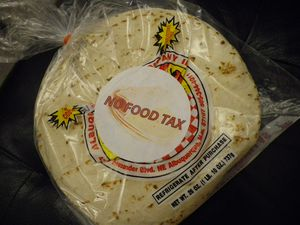 NO FOOD TAX Tortillas