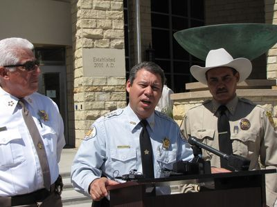 Santa Fe County Sheriff Greg Solano, Rio Arriba County Sheriff Joe ...