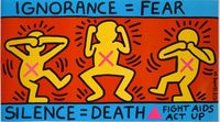 SilenceDeath-1989-Keith-Haring