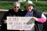 Barb and me with sign 19yr
