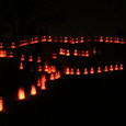 Luminarias on Dietz Farm Road off Rio Grande